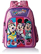 Minnie Polyester 18 Inch Purple and Pink Children's Backpack (MBE-WDP0510)