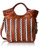 FRYE Tricia Weave Shopper Cross Body Bag, Whiskey, One Size