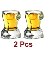 2 Pcs Sexy Lady Shot Glass for Tequila, Vodka. Bar Accessory & Home Decor