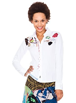 Desigual Camisa Patch Dsgl (Blanco)