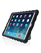 iPad Air 2 Glass Tech Hideaway with Stand Ruggedized Case - Black - Black