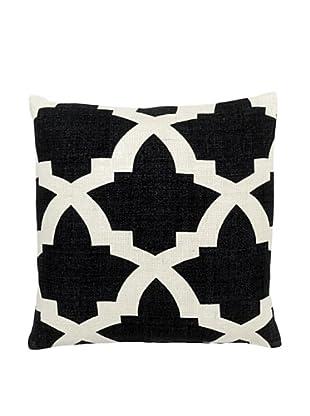 Mela Artisans Ava Silk Pillow, Black