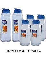 Lock&Lock Aqua Easy Grip Bottle Set, 2-Pieces (900ml+1.2 Litres)
