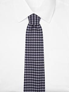 Hermès Men's Houndstooth Tie (Black/Gray)