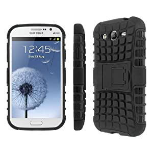 MPERO Collection Rugged Kickstand Black Case for Samsung Galaxy Grand