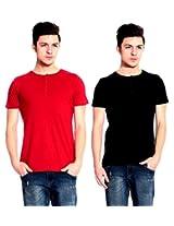 Lemon & Vodka Short Sleeve Solid Men's Tshirt Combo Pack of Two-CMB-13-XL