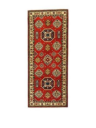 L'EDEN DEL TAPPETO Alfombra Uzebekistan Super Rojo/Multicolor 80 x 196 cm
