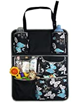 My Milestones Sling Car Seat Organizer with butterfly print
