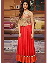 1006- Deepika Padukone Orange Anarkali In Comedy Nights With Kapi