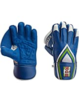 BDM Dynamic Super Wicket Keeping Gloves, Men's  (Blue/White)