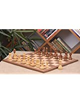 Chessbazaar Combo Of Reproduced French Lardy Chess Pieces In Sheesham / Box Wood & Walnut Maple Wooden Board