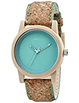 Sprout Sprout Unisex St/5516Gnck Green Dial Cork Strap Eco-Friendly Watch - St/5516Gnck