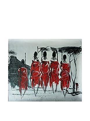 Legendarte Ölgemälde auf Leinwand Rito Tribale