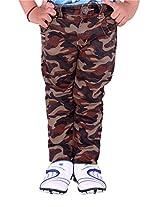 OKS Junior Khakhi Cotton Printed Pant For Boys | OKJ1102KHK