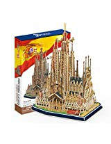 Sagrada Family Church with Book, 194 Piece 3D Jigsaw Puzzle Made by 3D-Puzzle