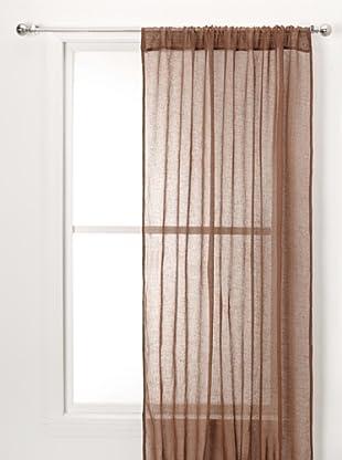 Sheer Linen Panel (Cocoa Bean)