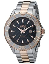 "Invicta Men's 15168SYB ""Pro Diver"" Stainless Steel and 18k Rose Gold Ion-Plated Watch"