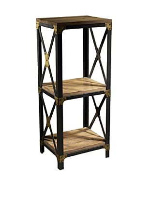 French Heritage Industrial Bookcase, Sun Bleached Oak