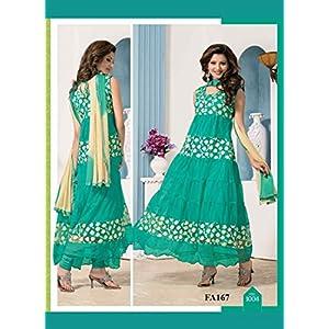 The New Designer Attractive Sky Anarkali Suit