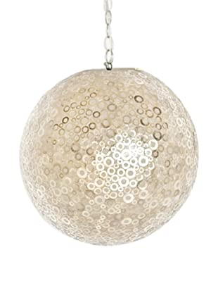 World's Away Dottie Capiz Shell Ball Pendant