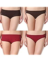 Adira Period Panty Combo Pack Of 2 Boxer and 2 Hipster (XX-Small)
