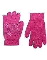 Romano Women's Pink Warm Winter Gloves