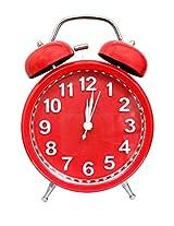 I-gadgets Dual Bell Analog Alarm Red Clock