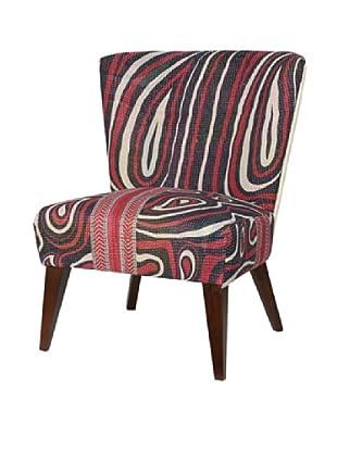 Kantha Arm Chair, Red/Black Multi