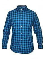 Numero Uno Blue Checks Shirt