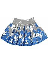 Oye Girls Skirt - White/Black/Blue (2-3Y)