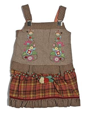 My Doll Kleid Spigato Quadri (Grau/Rot)