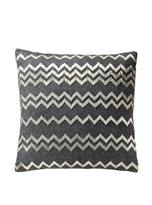 Aviva Stanoff Herringbone Pillow, Gray