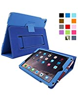 Snugg™ iPad Air 2 Case - Executive Smart Cover With Card Slots & Lifetime Guarantee (Electric Blue Leather) for Apple iPad Air 2 (2014)
