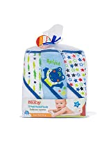 NUBY 3 Piece Terry Hooded Towel, Blue