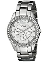 XOXO Women's XO5476 Silver-Tone Bracelet With Rhinestones Accent Bezel Watch