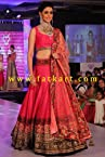 Genelia Dsouza In Designer Pink Lehenga Choli At Walk Hvk Jewellery