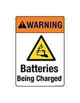 WARNING: Batteries Being Charged, (SS326-A3AL-01), Material: Aluminium