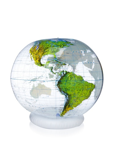 Jet Creations  Clear Topographical Globe (36
