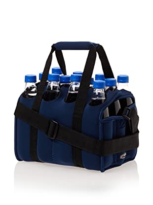 Picnic Time Twelve Pack Insulated Beverage Tote (Navy)
