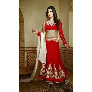 Zarine Khan Red Anarkali Suit