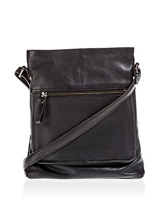 Borella Leder Cross-Body Bag (Schwarz)