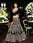 Bollywood Designer heavy embroidery work Navy Blue lehenga.