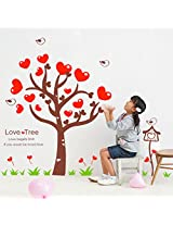 UberLyfe Tree of Hearts Wall Sticker for Living Room - 2 Colour