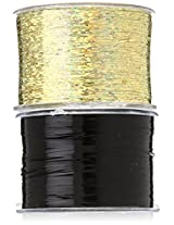 Mia Bling String Hologram Hair Extensions, Black,1.44 Ounce