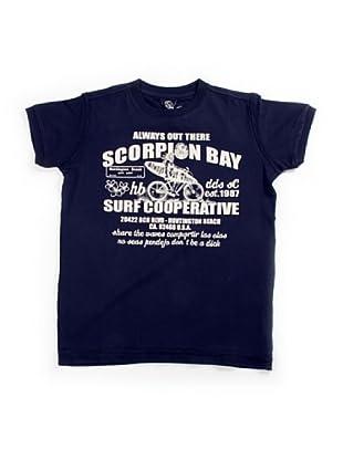 Scorpion Bay Camiseta Estampada (Azul Marino)