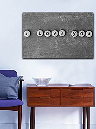 Homemania  Panel Decorativo Canvas Gris