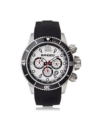 Breed Men's 4301 Salvatore Black/Silver Silicone Watch