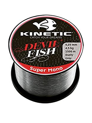 Kinetic Angelschnur Super Mono 0,30 mm grau