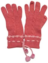 Graceway Unisex Cable Gloves (5G18, Pink)