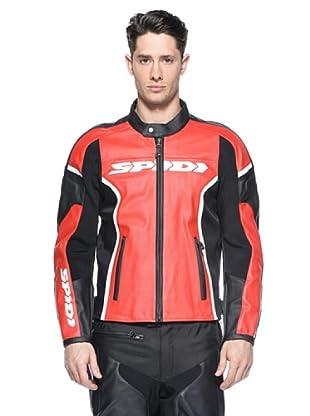 Spidi Chaqueta Gp Leather (Rojo / Negro)